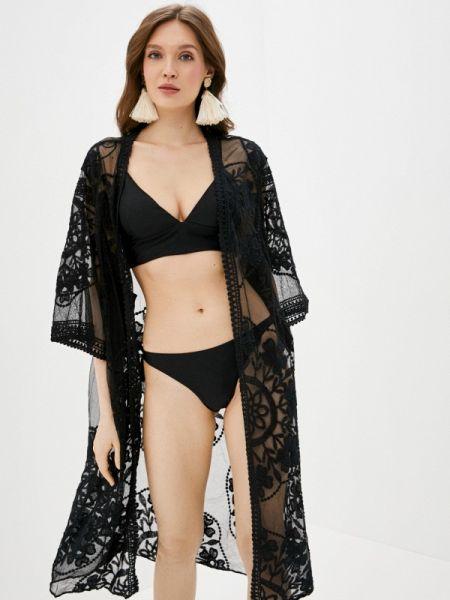 Пляжное платье черное весеннее Deseo