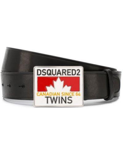 Ремень кожаный с узором Dsquared2
