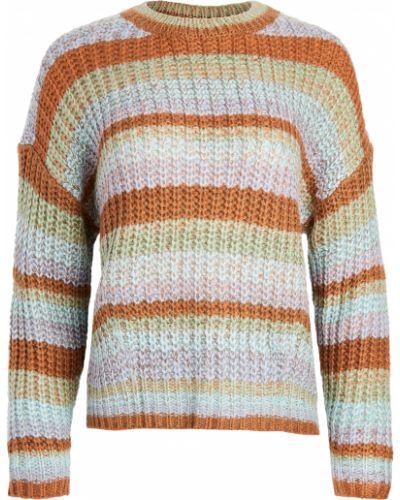 Акриловый длинный свитер с декольте с нашивками Minkpink