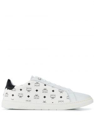 Кожаные кроссовки - белые Mcm