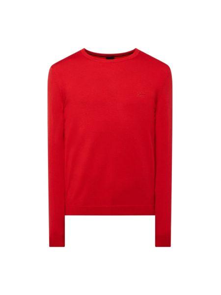 Prążkowany różowy sweter wełniany Boss Athleisurewear