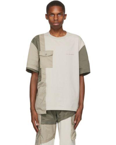 Трикотажная футболка с воротником с вышивкой Feng Chen Wang