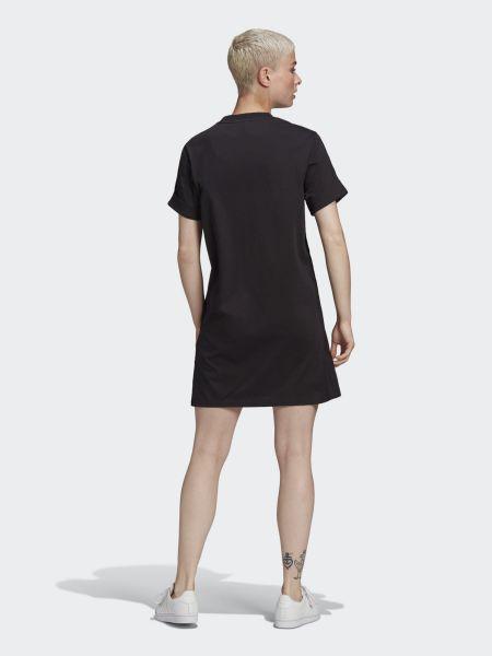 Свободное черное платье мини свободного кроя Adidas