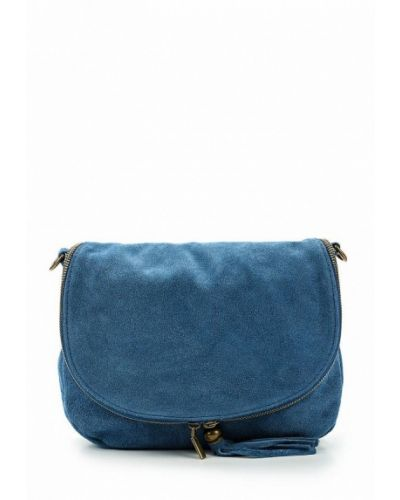 Синяя сумка замшевая Roberta Rossi