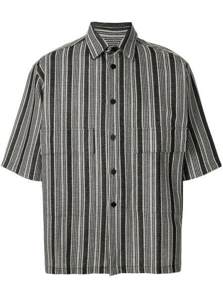 Koszula krótkie z krótkim rękawem klasyczna z paskami Jil Sander