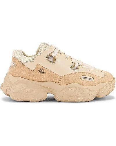Sneakersy skorzane sznurowane koronkowe Raye