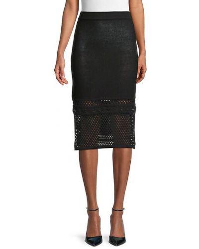 Хлопковая мягкая черная юбка макси Bcbgeneration