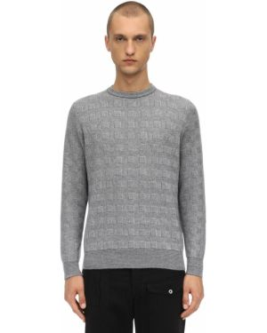 Ażurowy prążkowany z kaszmiru sweter Piacenza Cashmere