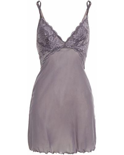 Koszula nocna koronkowa - fioletowa Cosabella