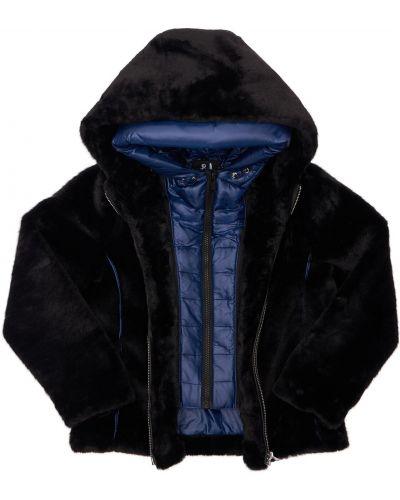 Черная куртка из искусственного меха Bomboogie