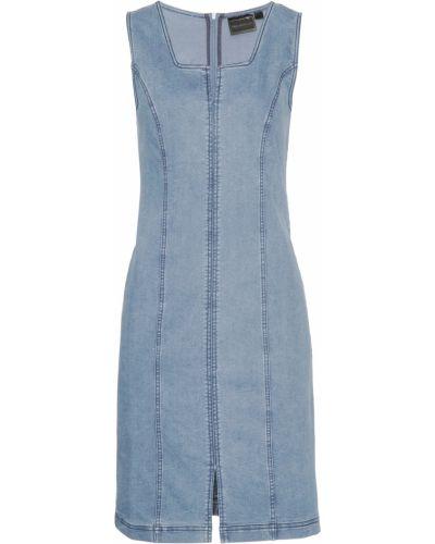 Джинсовое платье с разрезом Bonprix