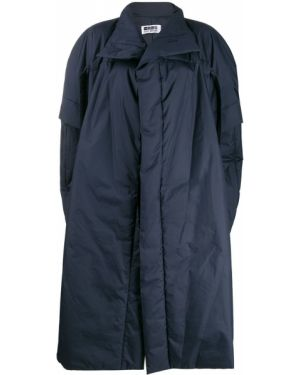 Niebieska narzutka krótki rękaw oversize 132 5. Issey Miyake