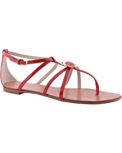 Красные кожаные сандалии Etro