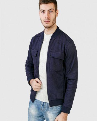 Кожаная куртка - синяя Figo