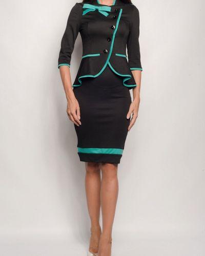 Черный юбочный костюм Gepur