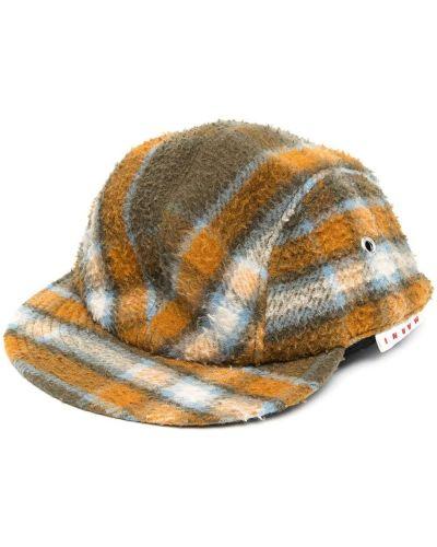 Zielona czapka wełniana Marni