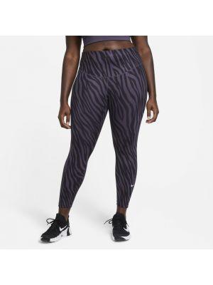 Fioletowe legginsy bezszwowe materiałowe Nike
