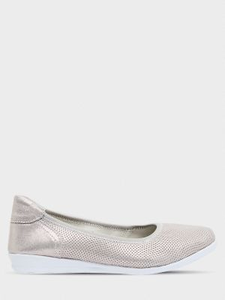 Кожаные балетки - серые Gunter