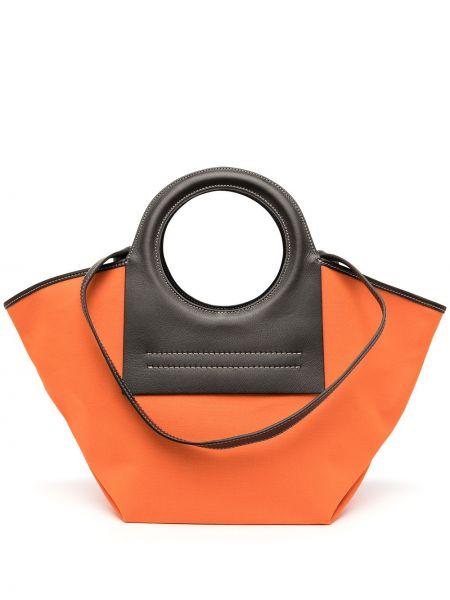 Pomarańczowa torebka skórzana Hereu
