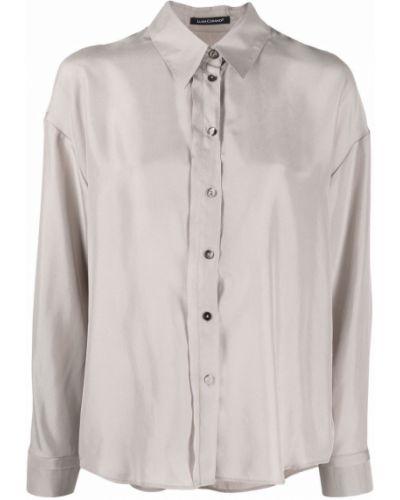 Серая шелковая рубашка Luisa Cerano