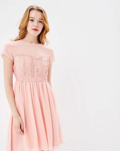 Платье весеннее розовое Q/s Designed By