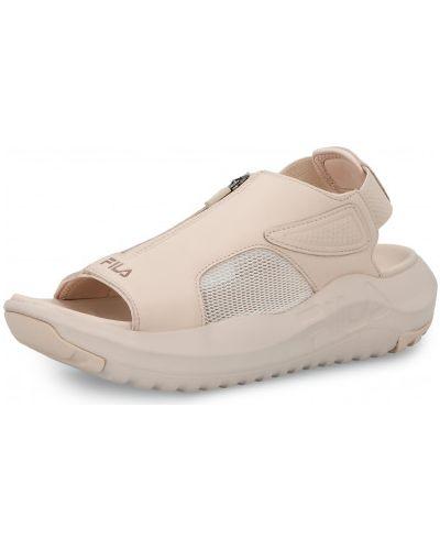 Бежевые кожаные сандалии Fila