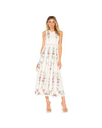 Платье с вышивкой на молнии Zimmermann
