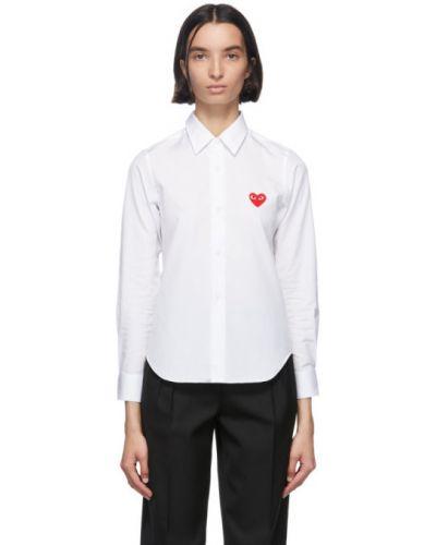 Bawełna koszula z kołnierzem z haftem z mankietami Comme Des Garcons Play