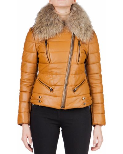 Кожаная куртка - оранжевая Rizal