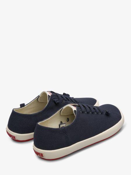 Текстильные синие низкие кеды на шнурках Camper