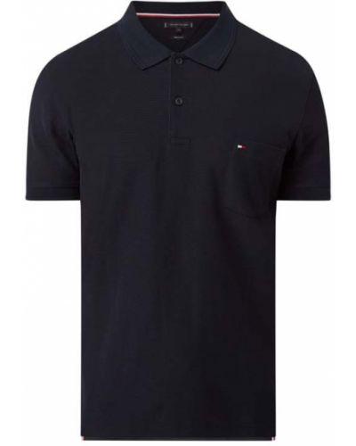 Niebieski bawełna t-shirt z kieszeniami Tommy Hilfiger
