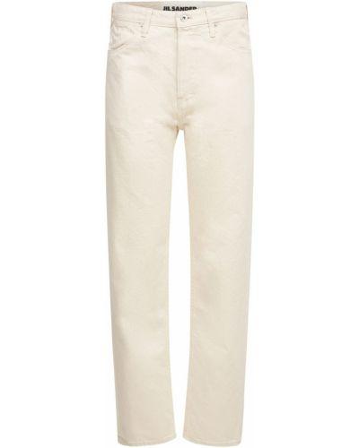 Niebieskie jeansy bawełniane Jil Sander