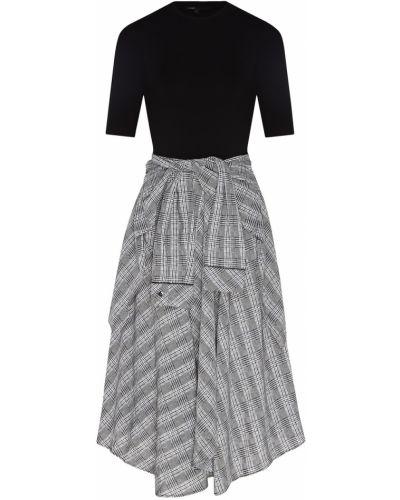 Платье миди платье-рубашка комбинированный Maje