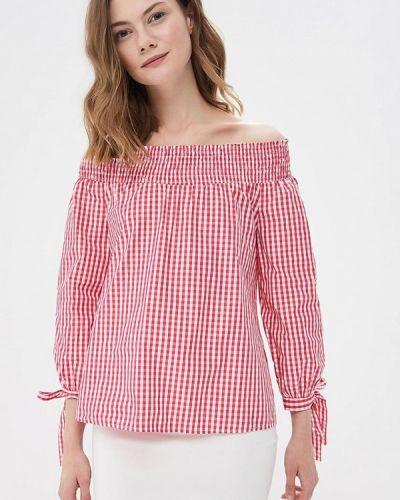 Блузка с открытыми плечами розовая весенний Miss Miss By Valentina