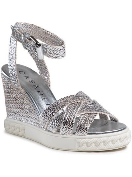 Sandały srebrne Casadei