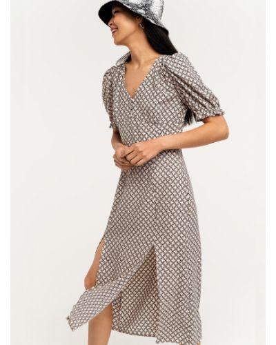 Пышное платье мини в горошек с разрезом Befree