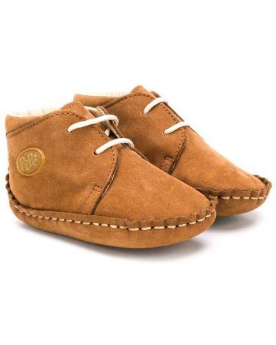 Ботинки из нубука коричневый Pèpè