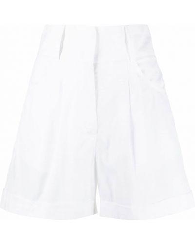 Ватные хлопковые белые шорты Federica Tosi
