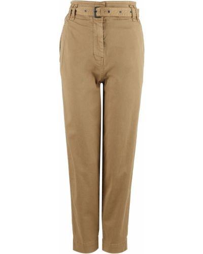 Хлопковые бежевые брюки Marc O`polo