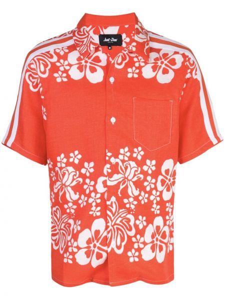 Pomarańczowa koszula krótki rękaw Just Don