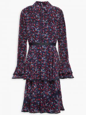 Облегченное платье из крепа на крючках Mikael Aghal