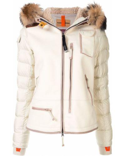 Куртка с капюшоном мятная из искусственного меха Parajumpers