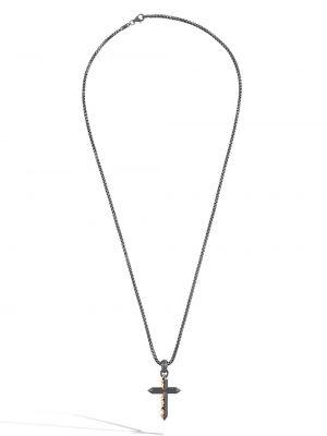 Серебряный крест с подвесками квадратный John Hardy