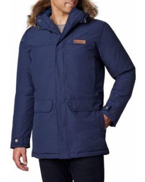 Хлопковая теплая синяя куртка Columbia