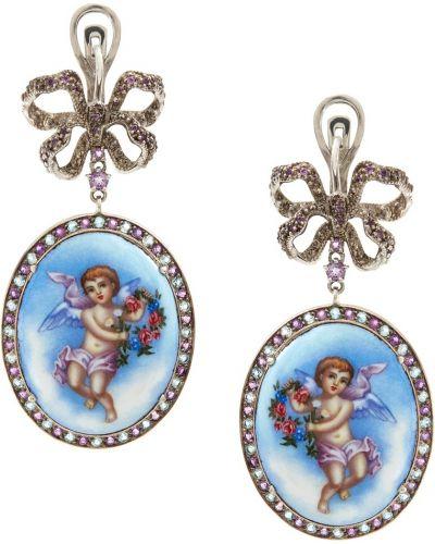 Серебряные серьги с топазом с аметистом Axenoff Jewellery