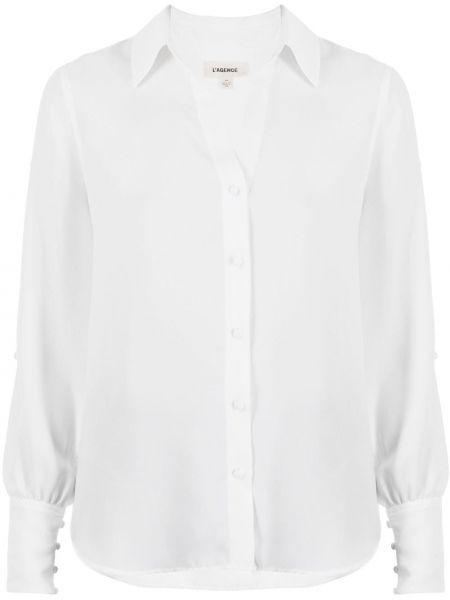 Белая рубашка с воротником с вырезом L'agence