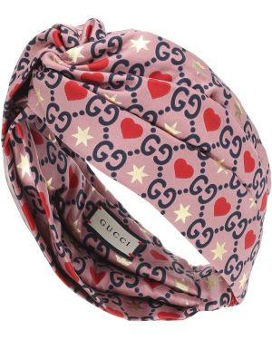 Ободок на голову розовый Gucci
