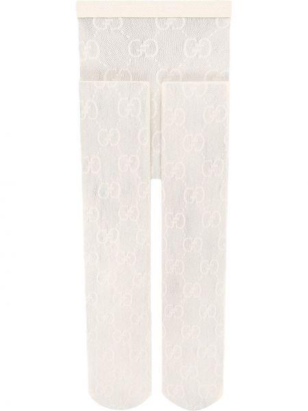 Rajstopy z wzorem biały Gucci