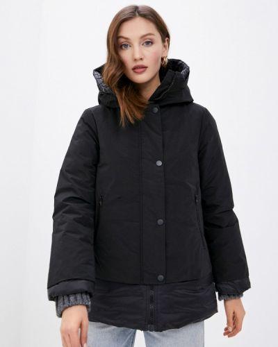 Утепленная черная куртка United Colors Of Benetton