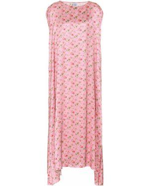 Платье миди с цветочным принтом классическое Vetements